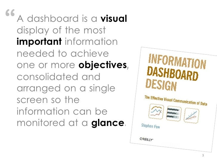 Effective Dashboard Design: Why Your Baby is Ugly Slide 3