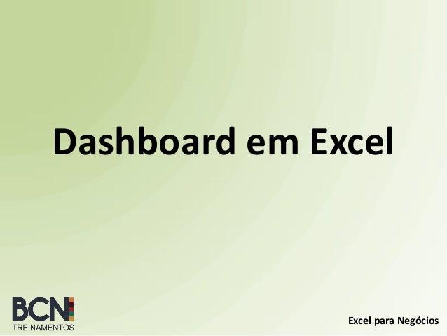 Excel para Negócios Dashboard em Excel