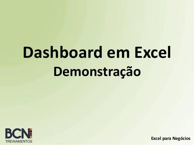 Excel para Negócios Dashboard em Excel Demonstração