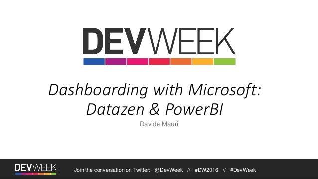 Dashboarding with Microsoft: Datazen & Power BI