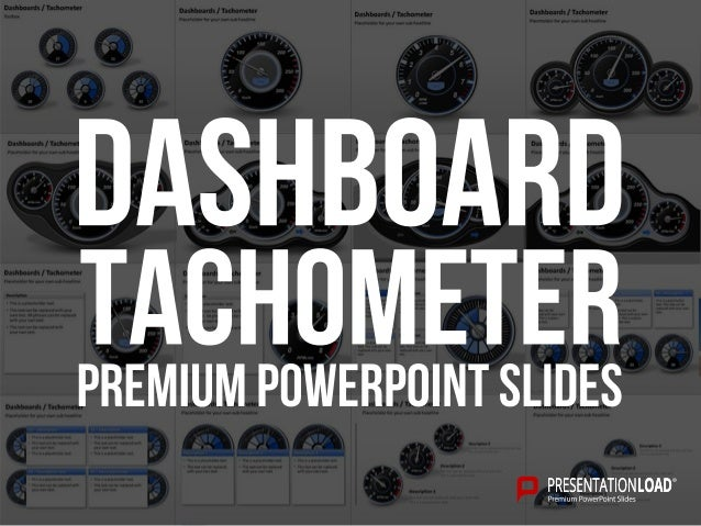 Dashboards / Tachometer PowerPoint Templates Example