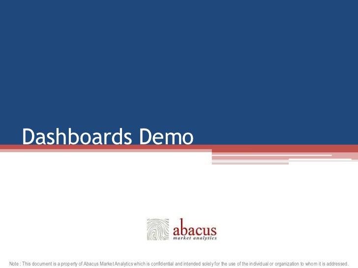 Dashboards Demo<br />