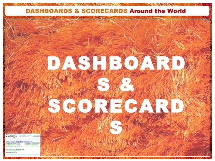 DASHBOARDS & SCORECARDS