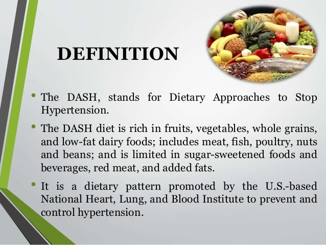 what does dash is dash diet mean