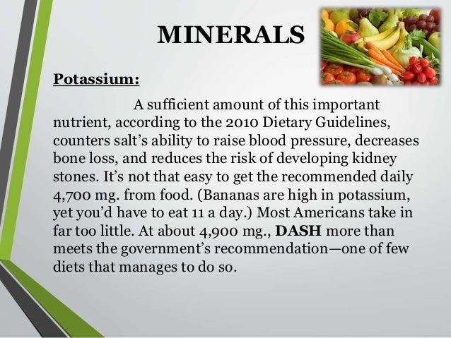 minerals of dash diet