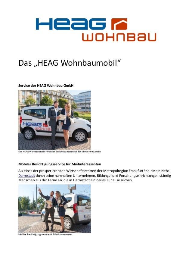 """Das """"HEAG Wohnbaumobil"""" Service der HEAG Wohnbau GmbH Das HEAG Wohnbaumobil -Mobiler Besichtigungsservice für Mietinteress..."""