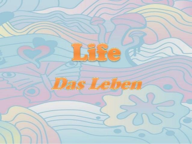 Life is an opportunity, benefit from it. Das Leben ist eine Chance, nutze sie. Life is a beauty, admire it. Das Leben ist ...