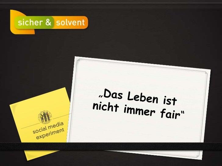 """""""Das Leben ist <br />nicht immer fair""""<br />"""