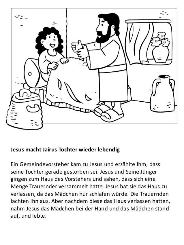 Großartig Jesus Heilt Jairus Tochter Malvorlagen Fotos - Ideen ...
