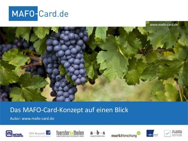 Das MAFO-Card-Konzept auf einen Blick Autor: www.mafo-card.de