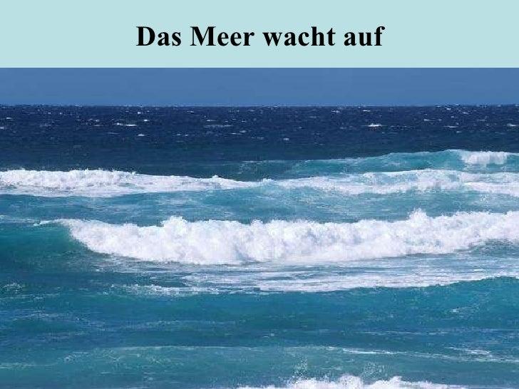Das Meer wacht auf