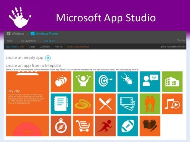 Microsoft App Studio