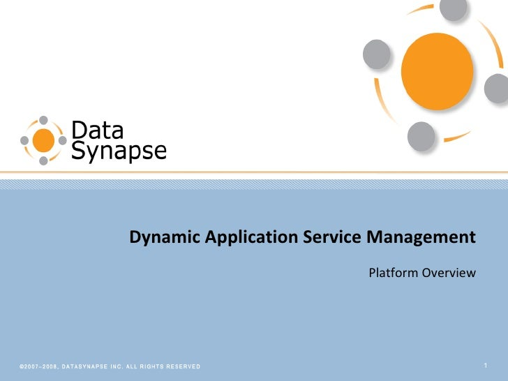 Dynamic Application Service Management Platform Overview