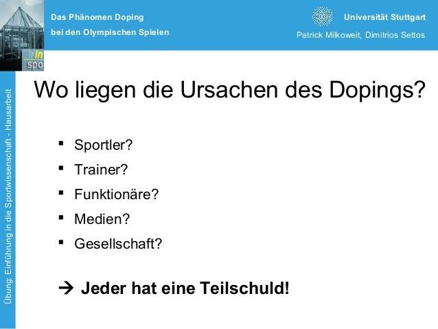 Doping Bei Den Olympischen Spielen