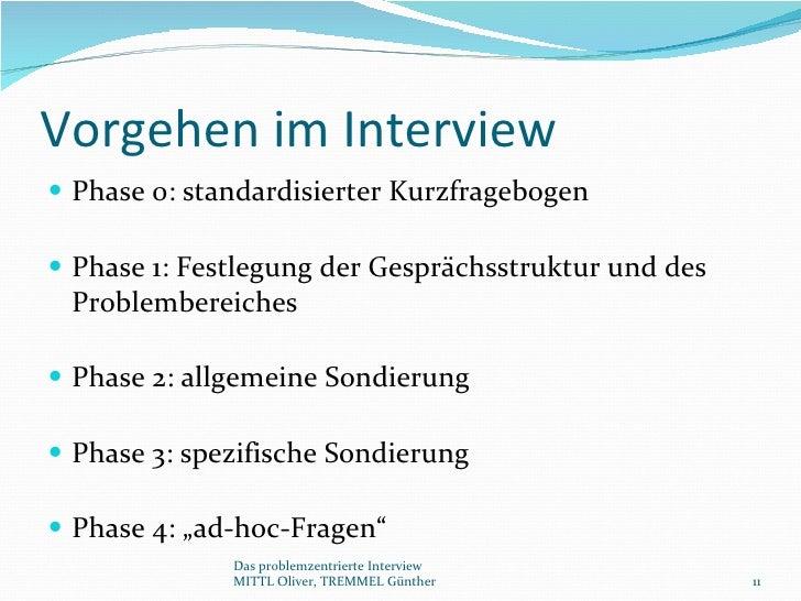 Das Problemzentrierte Interview