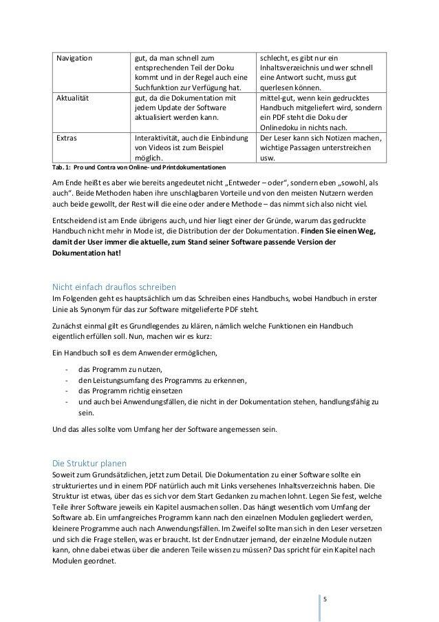 Das Schreiben Einer Technischen Dokumentation