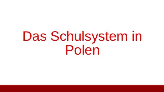Das Schulsystem in Polen
