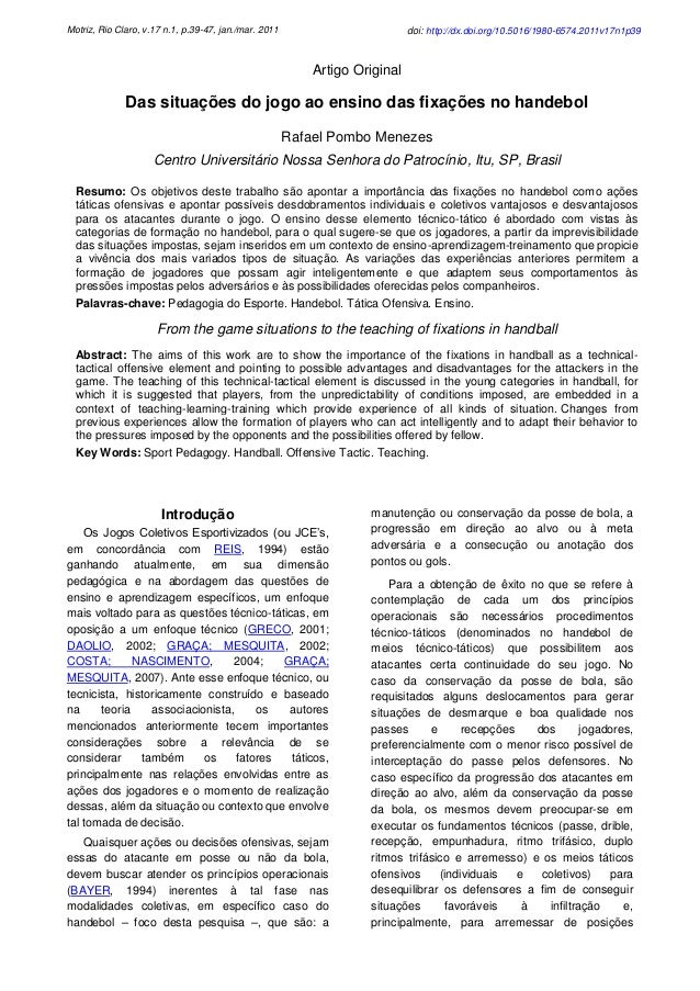 Motriz, Rio Claro, v.17 n.1, p.39-47, jan./mar. 2011                         doi: http://dx.doi.org/10.5016/1980-6574.2011...
