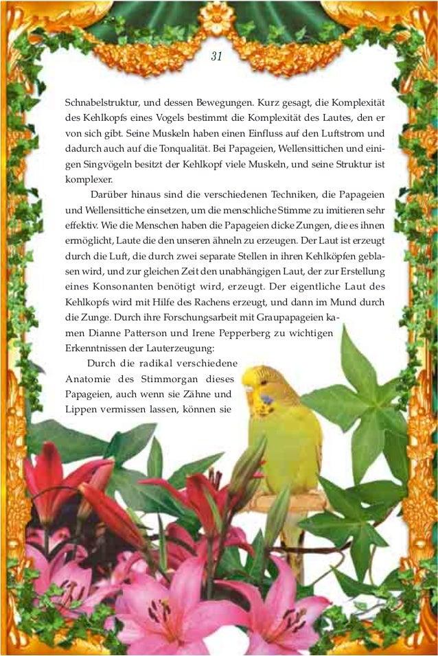 Das wunder der sprechenden vögel. german deutsche
