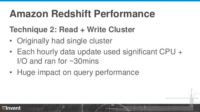 Getting Maximum Performance from Amazon Redshift (DAT305) | AWS re:In…