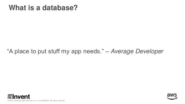 Advanced Design Patterns for Amazon DynamoDB - DAT403 - re:Invent 2017 Slide 3