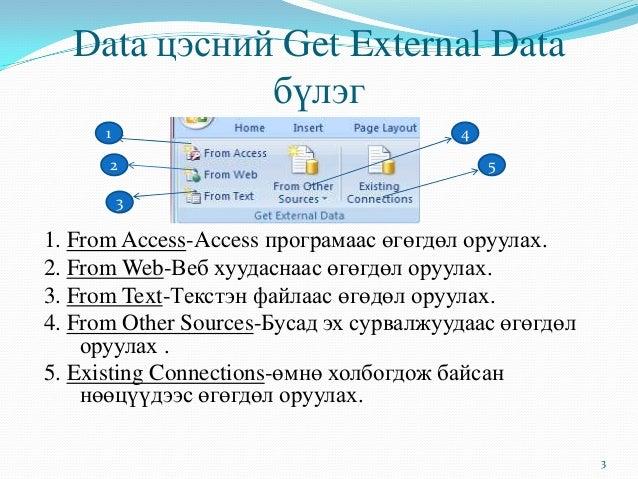 Data цэсний тухай Slide 3
