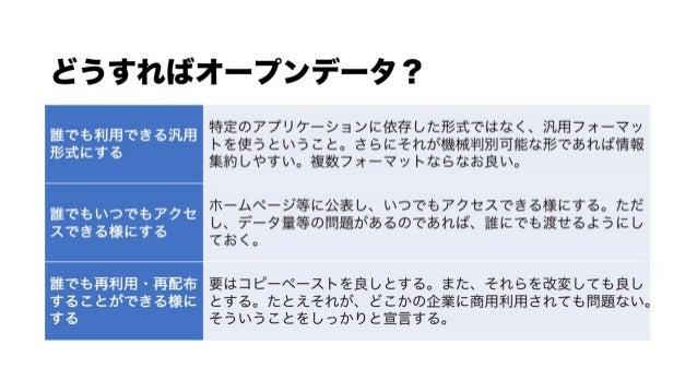 オープンデータとは2018夏(北海道内自治体向け)