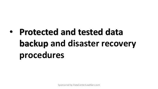 Data Center Checklist for Infrastructure Best Practices