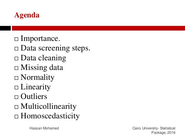 Data cleaning and screening Slide 2
