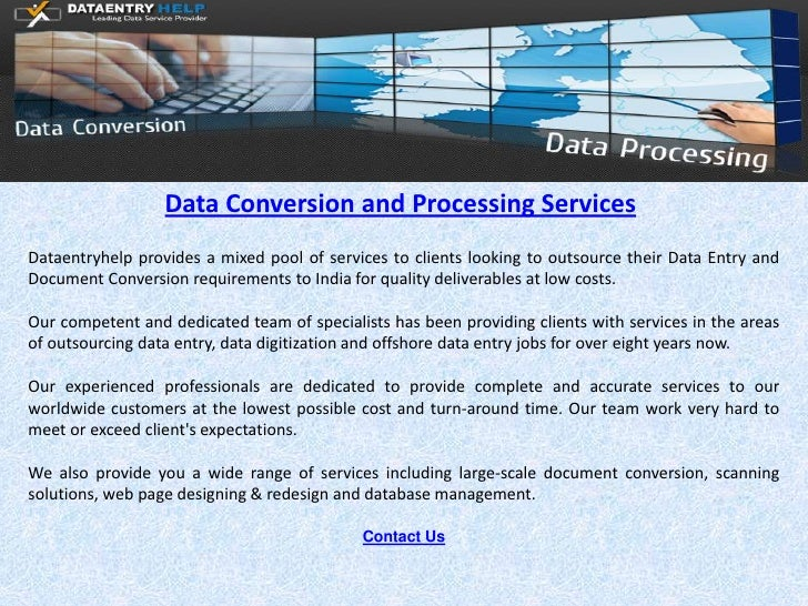 Data Conversion and Processing-services