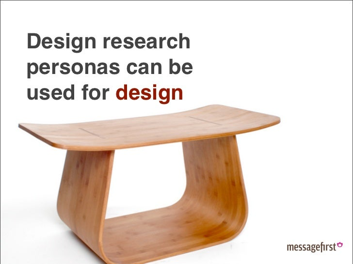 Design research personas can be used for design