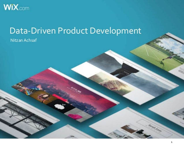 1 Data-Driven Product Development Nitzan Achsaf