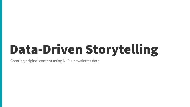 Data Driven Storytelling - The Edge Group