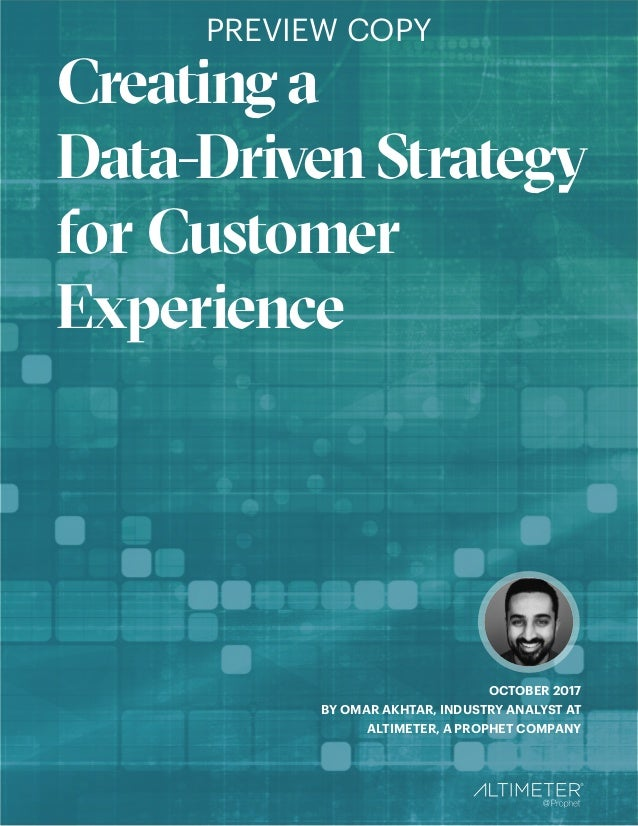 Technology Management Image: [REPORT PREVIEW] Creating A Data-Driven Strategy For CX