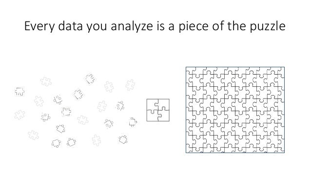 Every data you analyze is a piece of the puzzle