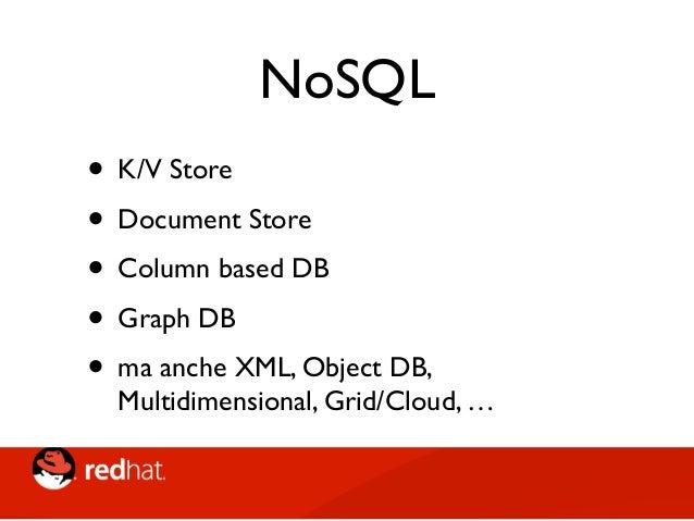 """Classic"" NoSQL MongoDB CouchDB Redis Riak Infinispan LevelDB Voldemort Neo4J BigTable HBase Cassandra Elastic Search Docum..."