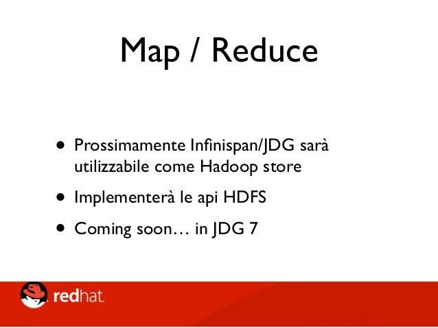 Management Tooling • Infinispan Command Line Console • JMX • RHQ/JON Plugin • Hawt.io plugin (si, la stessa console di Fuse...