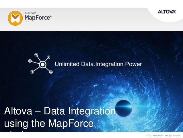 Data integration using the Altova MapForce platform