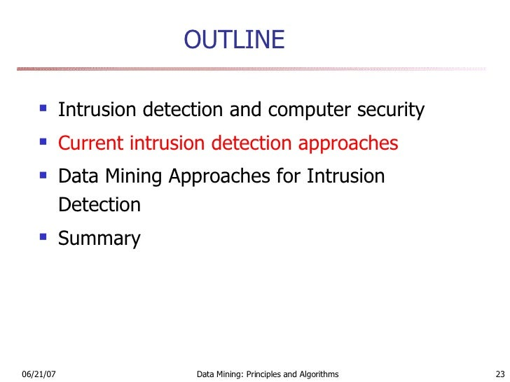 Phd Thesis Intrusion Detection Data Mining