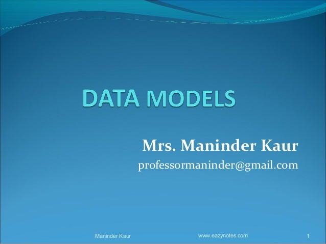 Mrs. Maninder Kaur                professormaninder@gmail.comManinder Kaur             www.eazynotes.com   1