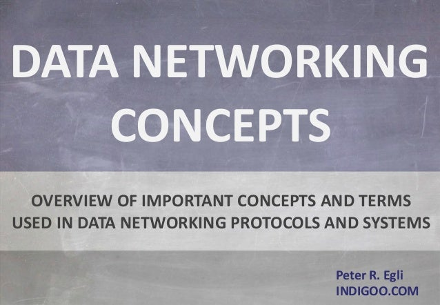 © Peter R. Egli 2015 1/54 Rev. 1.00 indigoo.comData Networking Concepts Peter R. Egli INDIGOO.COM OVERVIEW OF IMPORTANT CO...