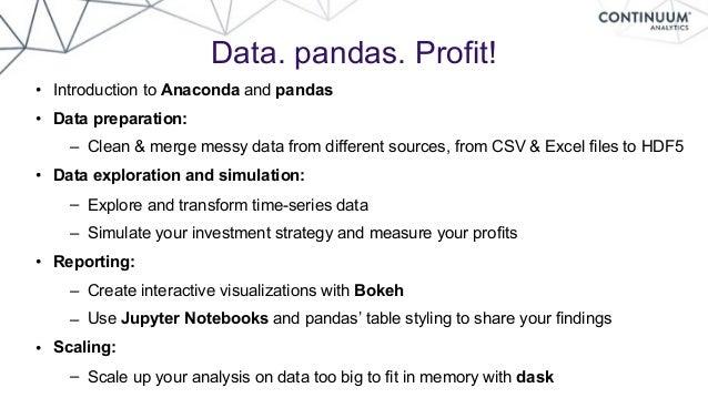 Data  pandas  Profit
