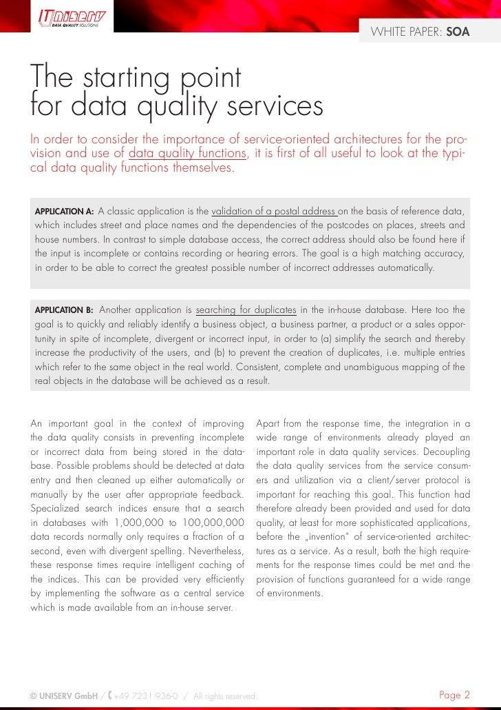 Data Quality meets SOA Slide 2