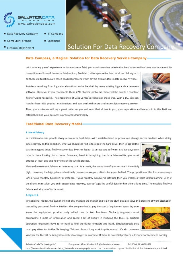 Data Compass, a Magical Solution for Data Recovery Service Company With so many years' experience in data recovery field, ...
