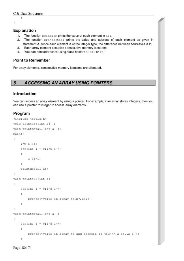 C Programming/Pointers and arrays