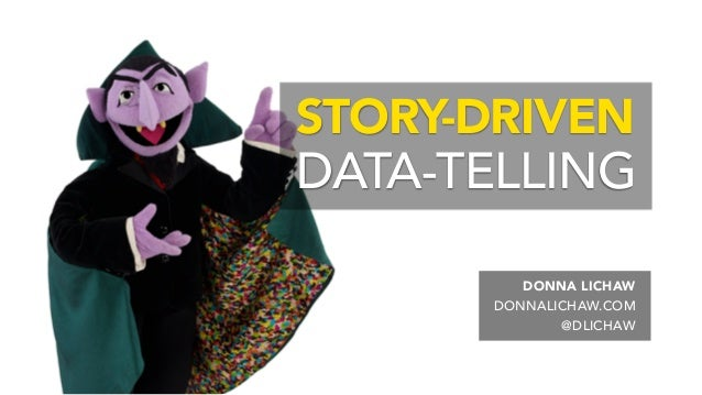 DONNA LICHAW . DONNALICHAW.COM . @DLICHAW . STORY-DRIVEN DATA-TELLING