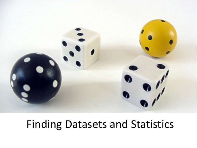Finding Datasets and Statistics