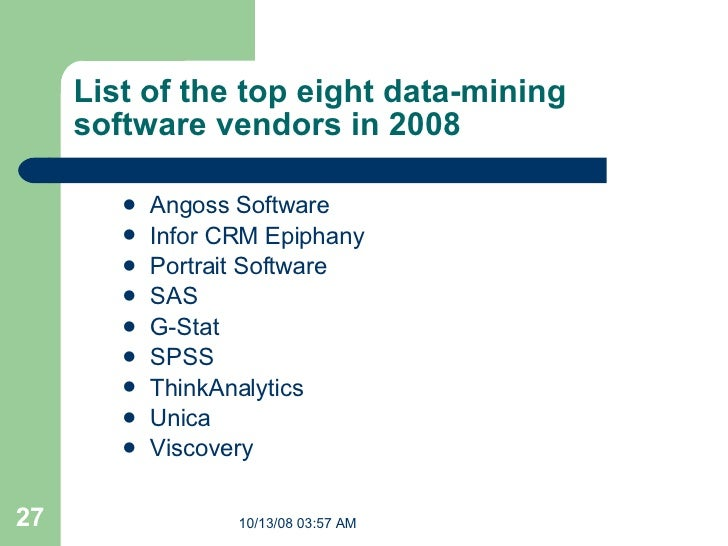 Data Mining Software List