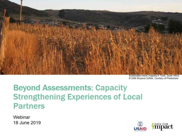 Beyond Assessments: Capacity Strengthening Experiences of Local Partners
