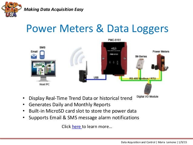 Data Acquisition And Trending : Data acquisition and control